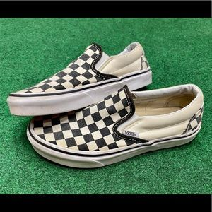 VANS Classic Slip On Black/White Checkered Shoes